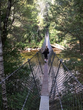 Derwent Bridge, Australia: kids enjoyed crossing the bridge