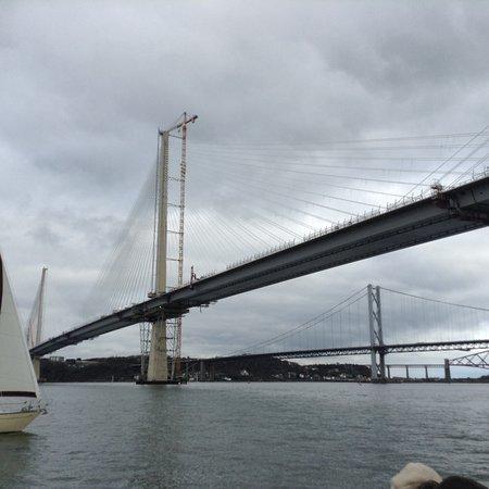 South Queensferry, UK: The new bridge