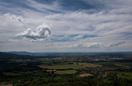 Castle of Hohenzollern : The view of the city