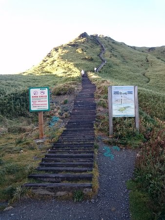 Stairs to sunrise (taken after sunrise).