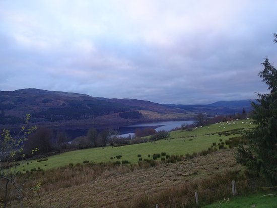 The Inn at Loch Tummel: View from front door