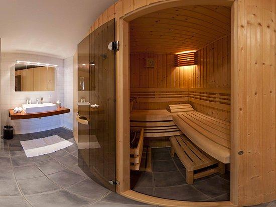 alpe fleurie hotel residence salle de bain avec sauna dents du midi - Salle De Bain Avec Sauna