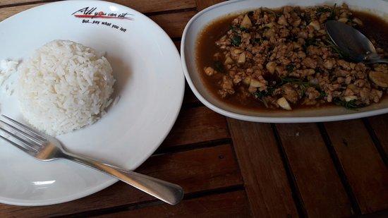Calamaro Resto: рис и свинина