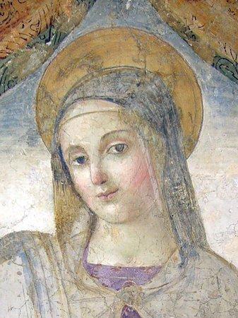 Vasanello, Italy: Particolare dell'affresco dell'edicola esterna.