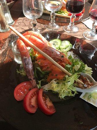 Saint-Veran, France: Assiette saumon mariné