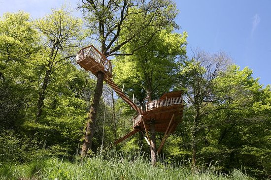 Quistinic, Frankrike: Cabane dans la arbres Logell