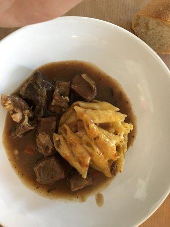 Mousse de foie et coeur de veaux avec gratins de penne !! Bon repas!!