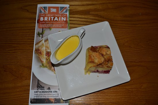 The Red Lion: Brioche Pudding from The Taste of Britain Menu