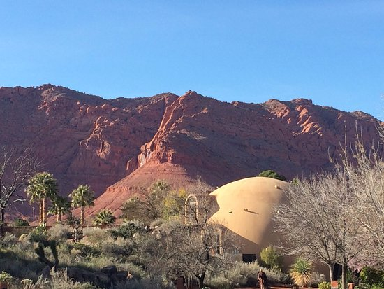 Ivins, UT: View of the spa building.