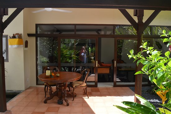 The Pavilions Bali: The terrace leading into the villa
