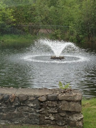 Menominee, MI: One of 3 fountains in Henes Park.