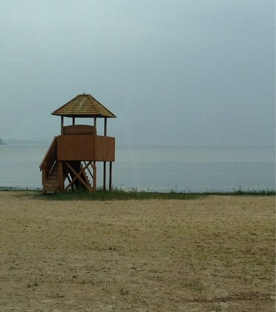 Menominee, MI: Lifeguard stand at Henes Park beach