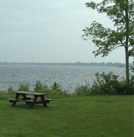 Menominee, MI: Shoreline view from Henes Park.
