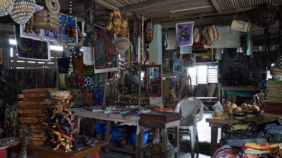 Ganvie, Benin: Boutique de l'hôtel