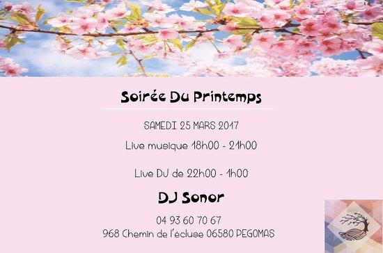 Pegomas, ฝรั่งเศส: Soirée du printemps