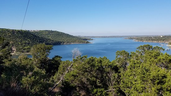 Volente, Teksas: Lake Travis View from Zip Island