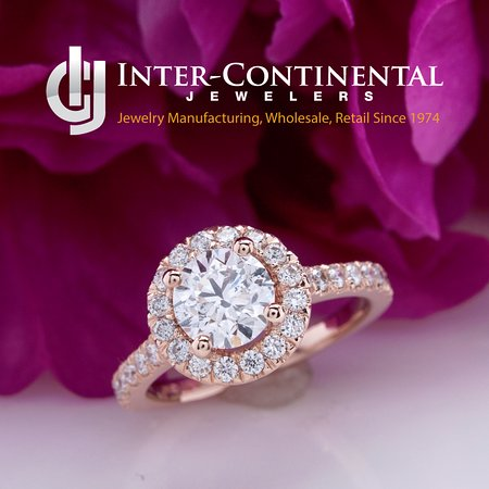 Rose Gold Halo Engagement Ring Picture Of Inter Continental Jewelers Houston Tripadvisor