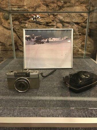 Museo Andes 1972: Máquina fotográfica utilizada pelos sobreviventes.
