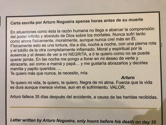Museo Andes 1972: Trechos de cartas
