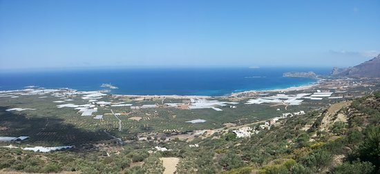 Falassarna, Yunanistan: Vista panoramica sulla spiaggia
