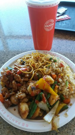 Janesville, WI: two entree with half rice & half noodles(chow mein)