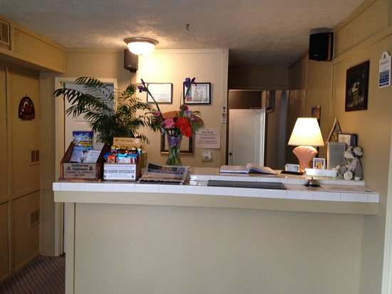Lakeview Motel: Reception area/check in