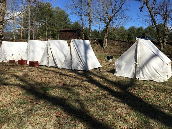 David Crockett Birthplace State Park Reenactor tents & Reenactor tents - Picture of David Crockett Birthplace State Park ...