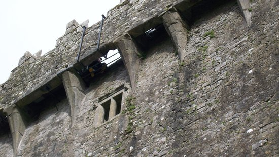 The Blarney Stone hole from the ground.