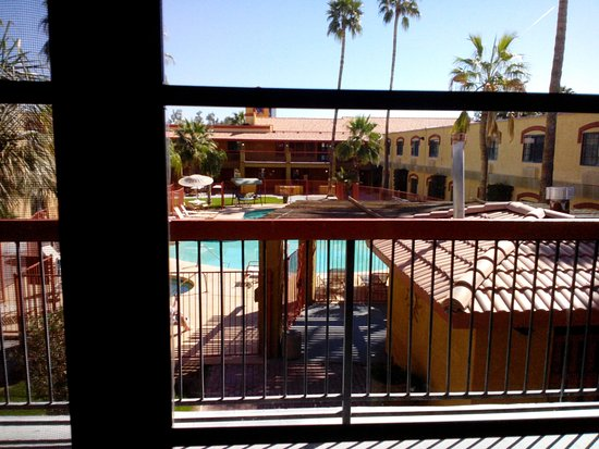 Quality Inn & Suites Goodyear : Taken from open hallway outside of our room.