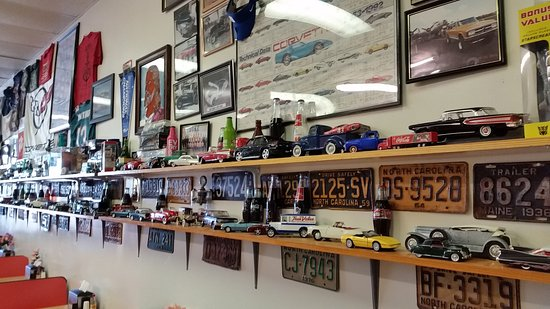 Eric's Grille: Just a part of the automotive collection on display!