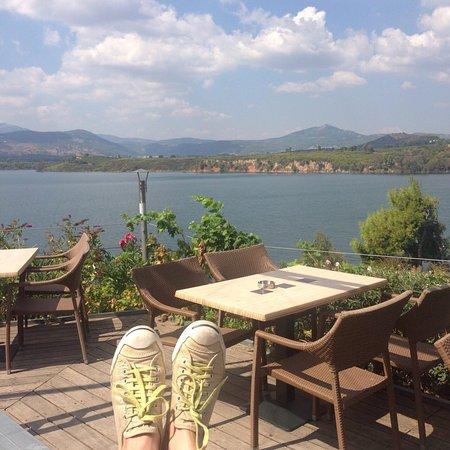 Marathon, Greece: me and the dam