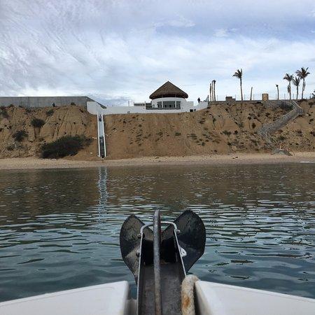 La Ventana, México: Vista del hotel desde un barco