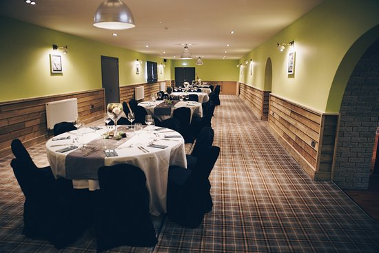 Bridgwater, UK: Newly refurbished function room, includes skittle alley under that carpet!!!