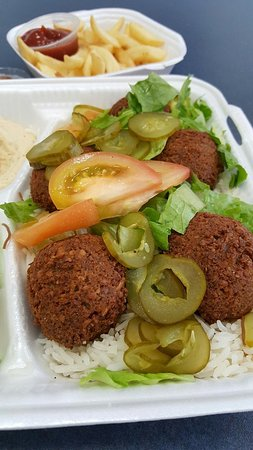 Saffron Sky: Falafel plate with fries on the side