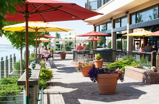 Alex's on the Water is located right on the Oswego River with stunning views of Lake Ontario.