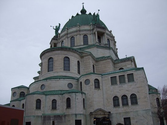 Lackawanna, NY: The outside of Our Lady of Victory Basilica