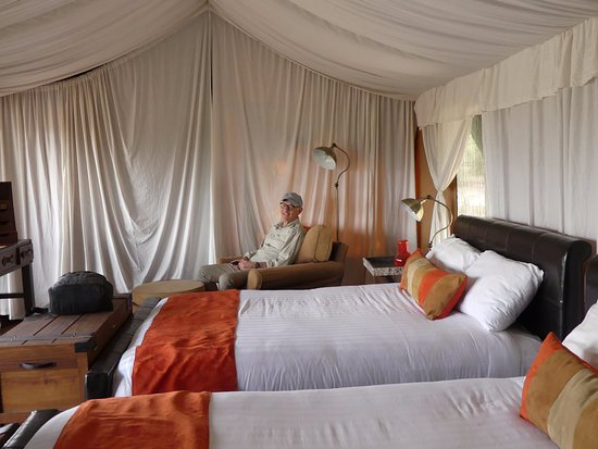 Lemala Mara Ndutu Tented Camp: Our private tent. There is an in-tent private toilet and shower.