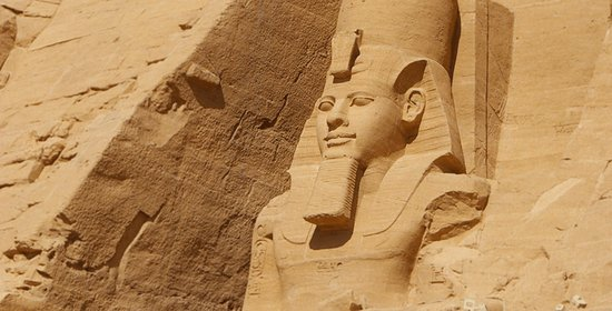 Egyptian Sidekick: The facade of the memorial temple of Ramses the Great at Abu Simbel