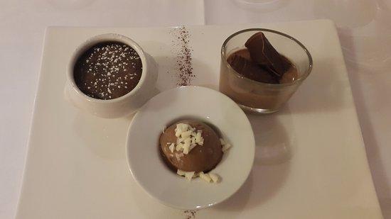 Saint-Aubin-De-Medoc, Frankreich: Dessert trois douceurs au chocolat