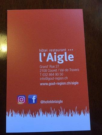 Couvet, Suíça: Hôtel de l'Aigle