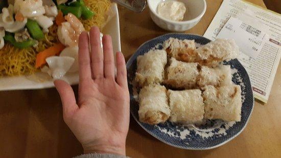 Alhambra, كاليفورنيا: crispy shrimp rolls