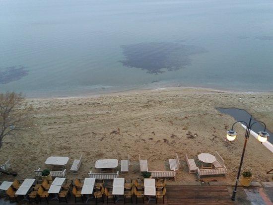 Peraia, Grecia: παραλία Περαία πρωινό ξύπνημα.