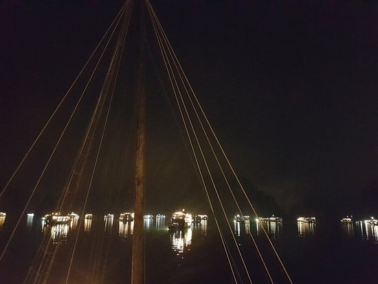 Bhaya Cruises: No City Lights But Light From The Other Boats, All For Anchor