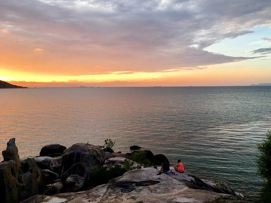 Magnetic Island, Australië: afternoon sun set