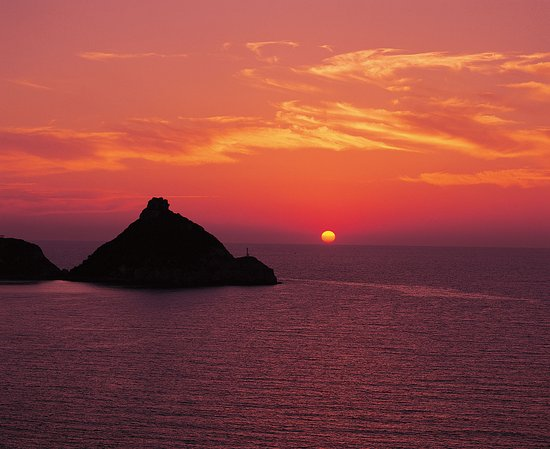Nagasaki Prefecture, Jepang: Sunset at Yagatame