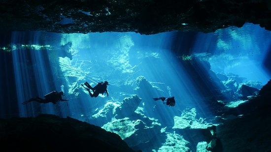 Deep Life Diving & Training : Cenote Chac Mool. Absolutely beautiful experience.
