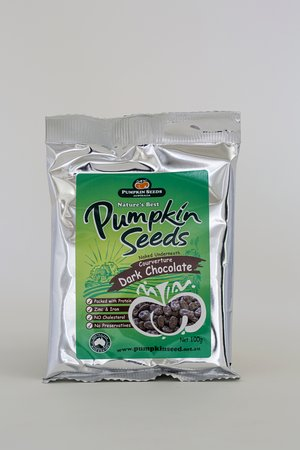Pumpkin Seeds Australia: Our famous chocolate coated pumpkin seeds