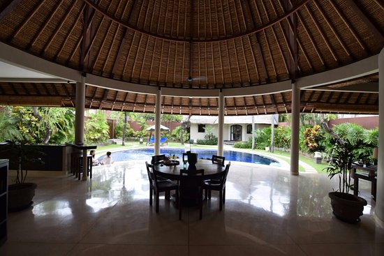 The Dusun: The view of the pool from the inside!
