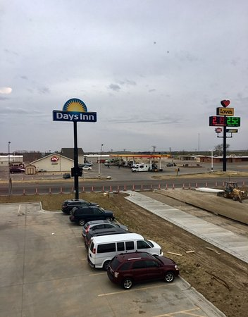 Ellis, KS: View from our room....Dairy Queen and Love's across the street.