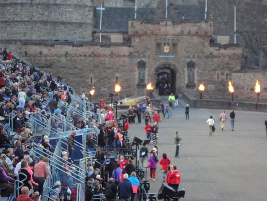 The Royal Edinburgh Military Tattoo: Dusk over the parade ground prior to the start